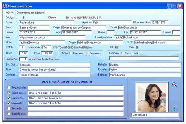 Compradores e Contatos do Clientes do Sofware SDR