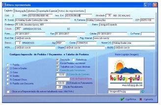 Informações da Representada no Sistema SDR