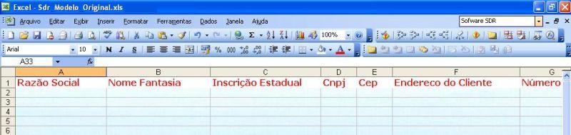 Modelo de Planilha SDR do Excel